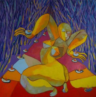 Ta - Goddess dancing in candlelight - 120 x 120 - 29