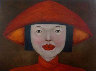 Ta - Lady in Red - 180 x 130 - 40