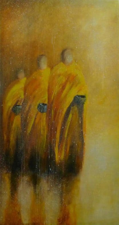 Ta - Monks (in the rain) - 70 x 150 - 26