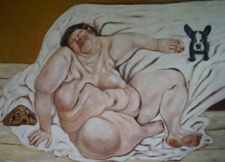 Ta - Sleeping with the puppies - 180 x 130 - 66