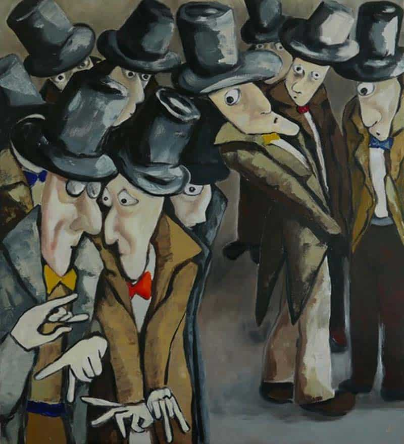 Ta - The conspirators conspiring - 90 x 100 - 24