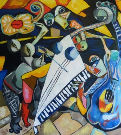 Ta - The jazz players - 90 x 100 - 24