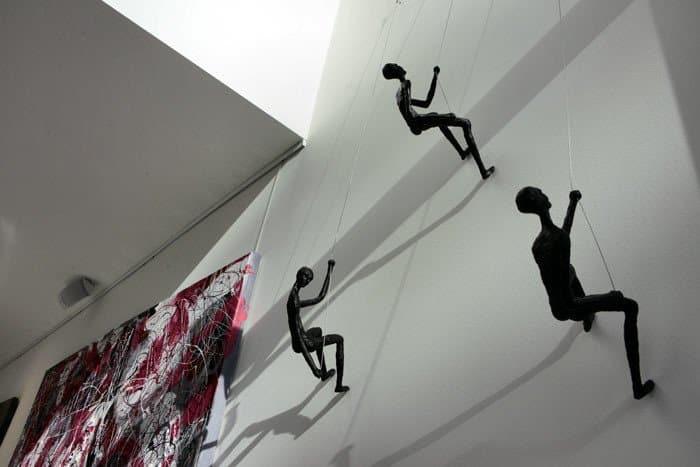 Climbing Man Wall Modern Sculpture - Wall Decorating Ideas