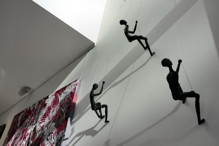 Climbing Man Wall Modern Sculpture - Wall Decorating Ideas