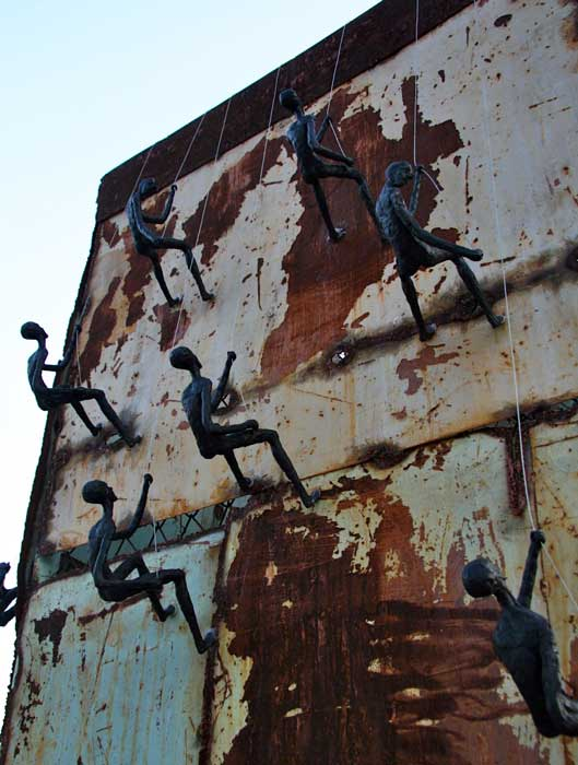 Climbing Man Wall Sculpture - Large Wall Decor