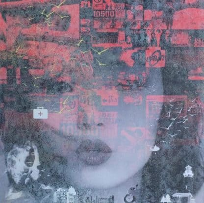 Kee - Deep Red 03 - 80 x 80 - 15