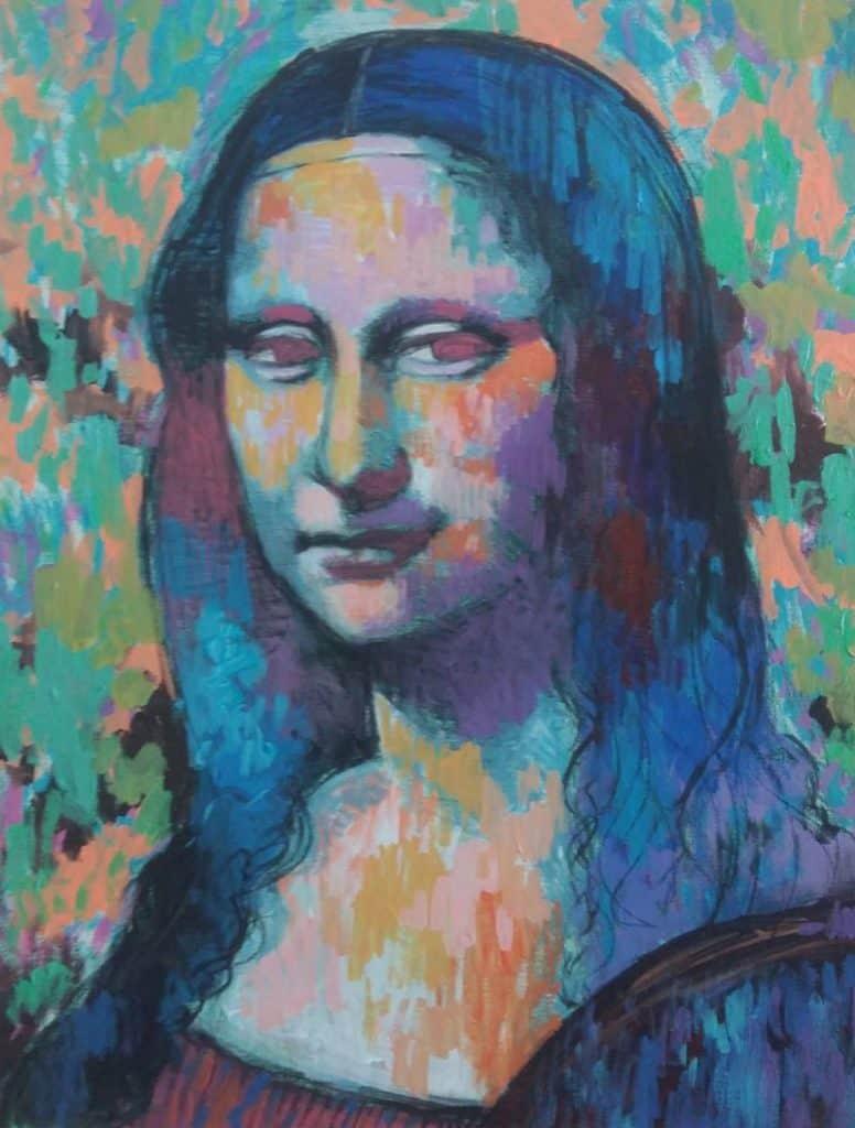 Paa - Mona lisa 03 - 40 x 50 - 5