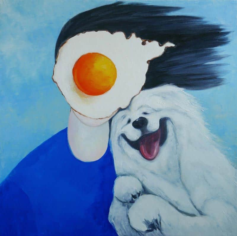 Ta - Egg Boy With Dog - 80 x 80 - 20