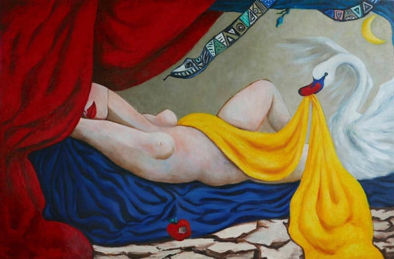 Ta - Goddess Dreaming Of Her Lover (With Snake And Swan) - 120 X 80 - 36-6