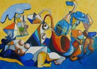 Ta - Jazz On The Beach - 140 X 100 - 28-5