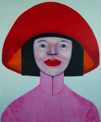 Ta - Lady in Red 02 - 100 x 120 - 25-8
