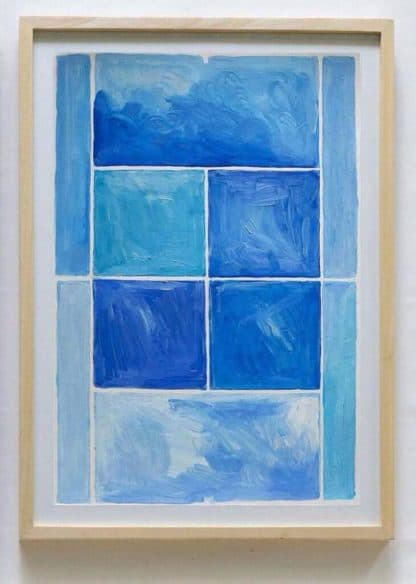 Ugo Li - Tennis-Blue - 46 x 64 -15
