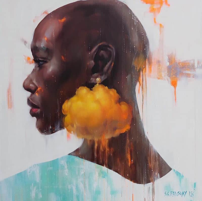 Arthit - She wears A golden cloud - 120 x 120 - 33