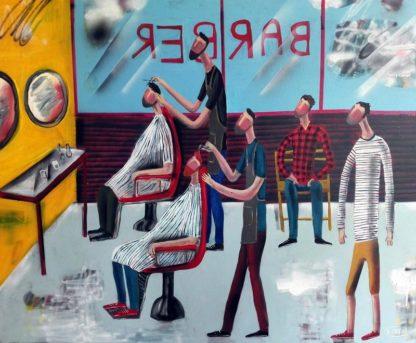 Kitti - Barber Shop - 100 x 80 - 8