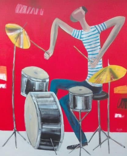 Kitti - Drummer - 100 x 120 - 8-5
