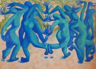 Ta - Dancing Goddesses - 180 x 130 - 40-5