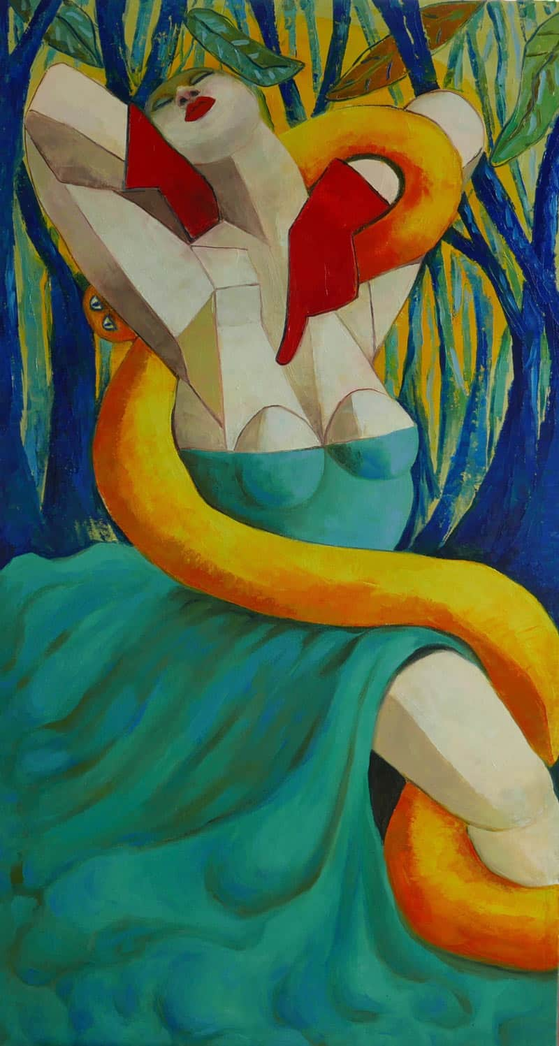 Ta - Goddess and Serpent - 65 x 120 - 32