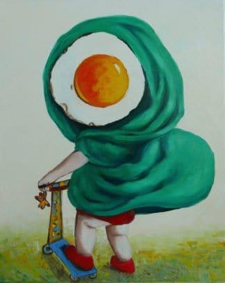 Ta - Little Egg Riding Hood - 40 x 50 - 10-6