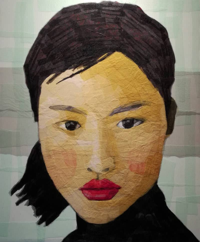 Tanarug - Collage Portrait 01 - 100 x 120 - 18