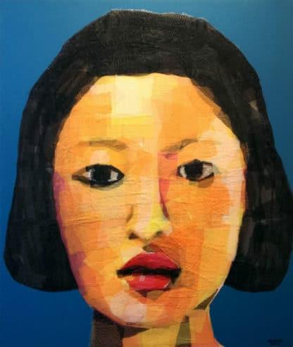 Tanarug - Collage Portrait 02 - 100 x 120 - 18