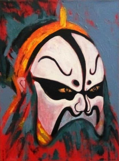 Blue Bird - Chinese Opera Mask 01 - 30 x 40 - 3
