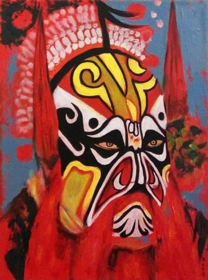 Blue Bird - Chinese Opera Mask 02 - 30 x 40 - 3