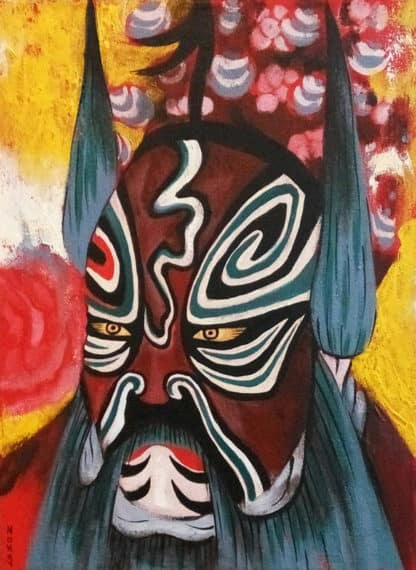 Blue Bird - Chinese Opera Mask 03 - 30 x 40 - 3