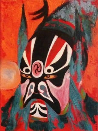 Blue Bird - Chinese Opera Mask 04 - 30 x 40 - 3