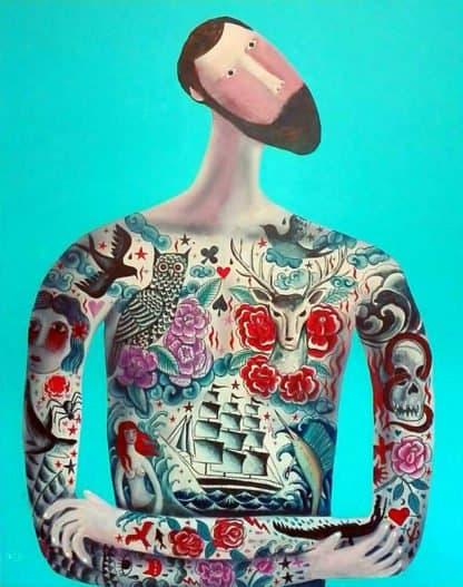 Kitti - Another tattoo man - 100 x 120 - 9-5