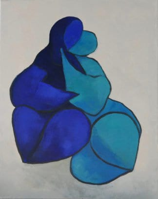Ta - Lovers Entwined - 40 x 50 - 13-5