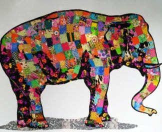 Tanawat - Elephant Collage 01 - 180 x 150 - 25