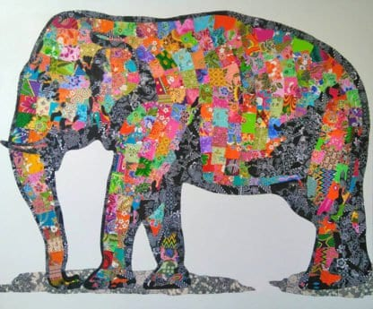 Tanawat - Elephant Collage 02 - 180 x 150 - 25