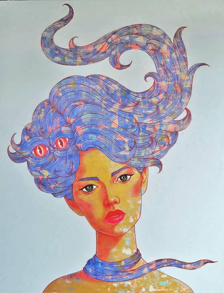 Vatcharapong - Woman Portrait 27 - 140 x 180 - 35