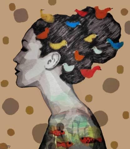Tanarug – Collage Portrait 03 - 150 x 170 - 45