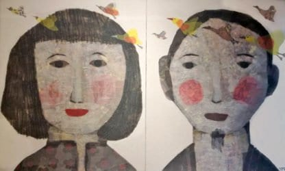 Tanarug - Diptych Collage Portrait - 200 x 120 - 35