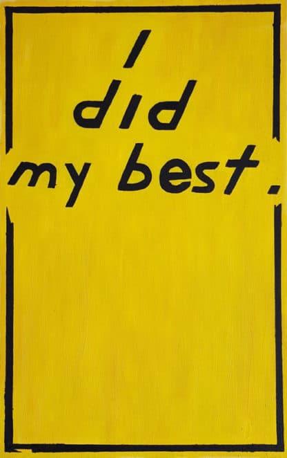 Ugo Li - I Did My Best - 52 x 84 - 25