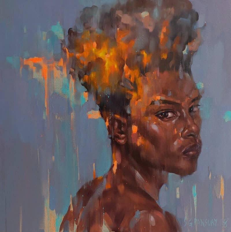 Arthit - Afro 03 - 120 x 120 - 35