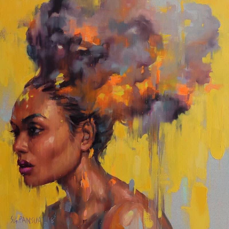 Arthit - Burning to Yellow - 120 x 120 - 35