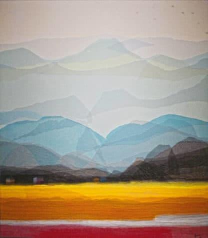 Tanarug – Collage Fabric Scenery 19 - 150 x 170 - 45