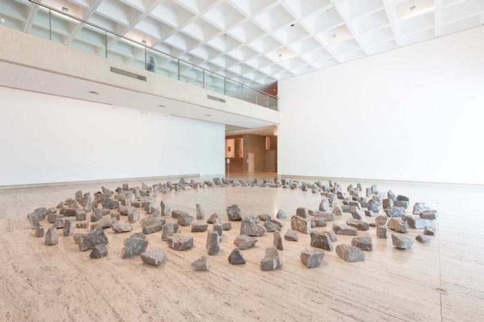 National Gallery Singapore - ArtScience Museum - Minimalism - Space - Light - Object - Richard Long - Ring of Stones