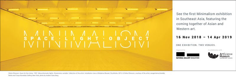 National Gallery Singapore - ArtScience Museum - Minimalism - Space - Light - Object