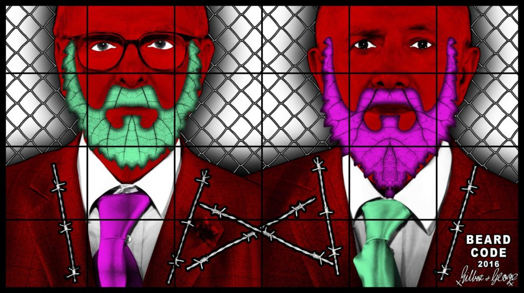Lehmann Maupin gallery - Gilbert & George - The beard pictures