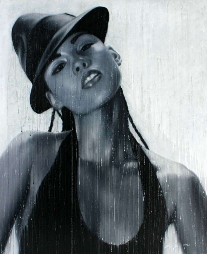 Paitoon - Alicia Keys Portrait - 100 x 120 - 18
