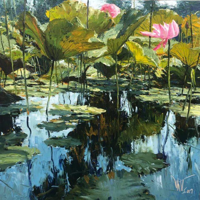 Dusit - Once - Oil painting - 100x100 - 29